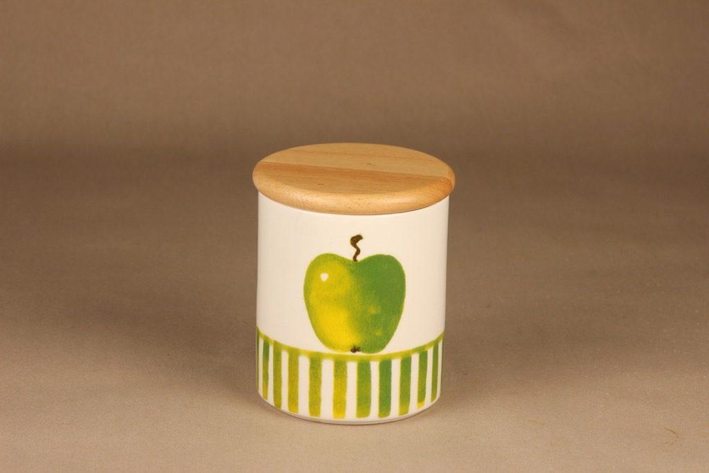 Arabia Omena purkki, kannellinen, suunnittelija Minna Immonen, kannellinen, sesonkituote