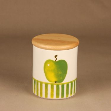 Arabia Apple jar with lid designer Minna Immonen