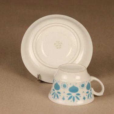 Arabia Retikka kahvikuppi, puhalluskoriste, suunnittelija Hilkka-Liisa Ahola, puhalluskoriste kuva 3