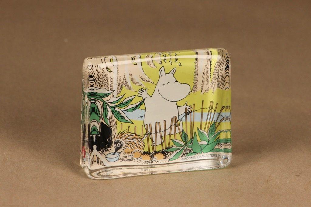 Iittala glass card Happy Moomin troll designer Tove Slotte-Elevant