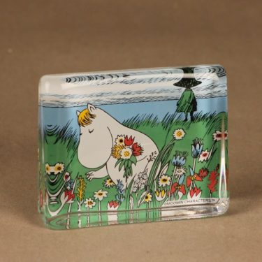 Iittala glass card Snorkmaiden´s midsummer flowers designer Tove Slotte-Elevant