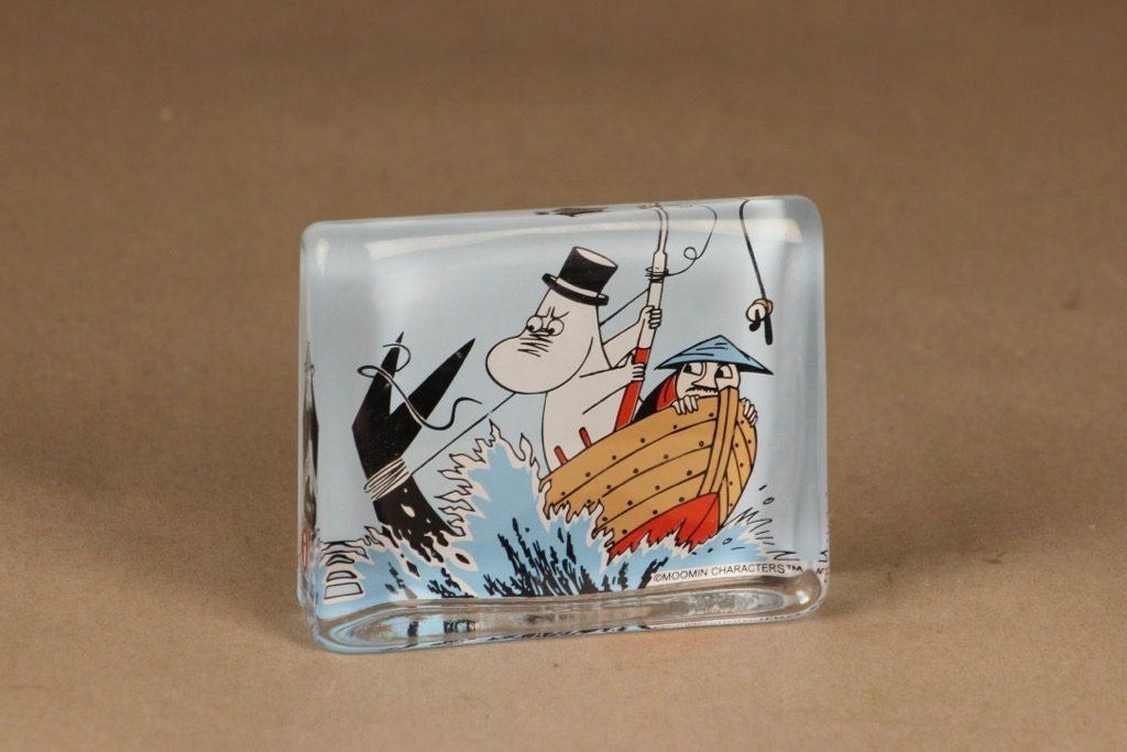 Iittala glass card Moomin Pappa and Sea designer Tove Slotte-Elevant