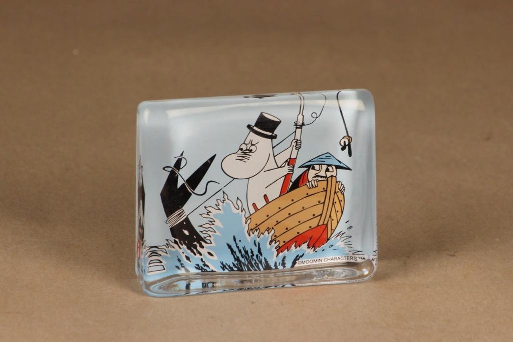 Iittala lasikortti, Muumipappa ja meri, suunnittelija Tove Slotte-Elevant, Muumipappa ja meri, serikuva