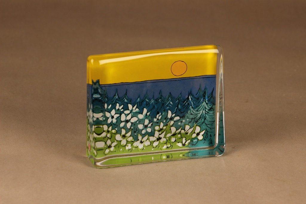 Iittala HLS glass card Warmth of the sun designer Heljä Liukko-Sundström