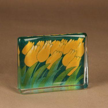 Iittala HLS glass card Orange Tulips designer Heljä Liukko-Sundström