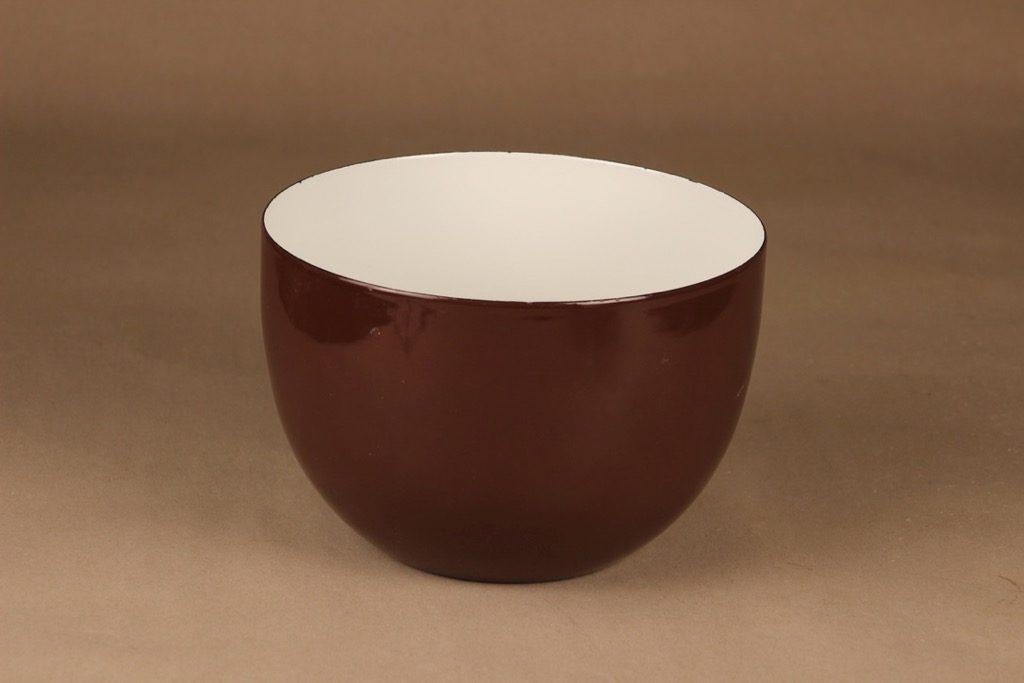 Finel enamel bowl brown designer Kaj Franck