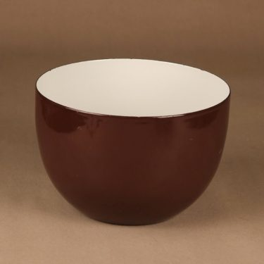 Finel enamel bowl brown designer Kaj Franck