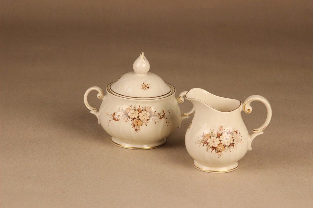 Arabia Raija sugar bowl and creamer designer Raija Uosikkinen