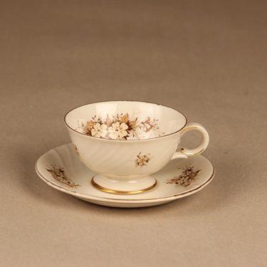 Arabia Raija kahvikuppi ja lautaset, suunnittelija Raija Uosikkinen, kukka kuva 2
