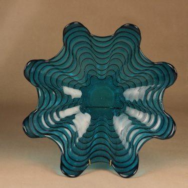 Riihimäen lasi Koralli tarjoiluvati, suuri, suunnittelija Nanny Still, suuri, massiivinen kuva 2
