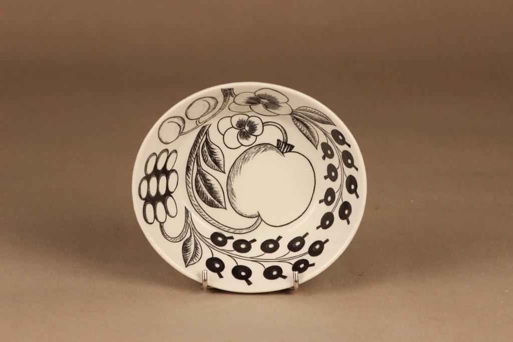Arabia Paratiisi dessert bowl B/W designer Birger Kaipiainen