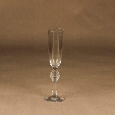 Riihimäen lasi Fabiola kuohuviinilasi, kirkas, suunnittelija Nanny Still,