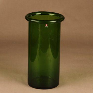 Iittala Juno maljakko, vihreä, suunnittelija Markku Salo,
