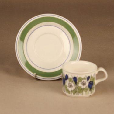 Arabia Krokus kahvikuppi, vihreä, suunnittelija Esteri Tomula, kukka kuva 2