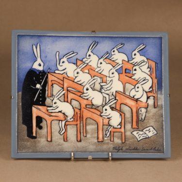 Arabia HLS wall plate Rabbit School designer Heljä Liukko-Sundström