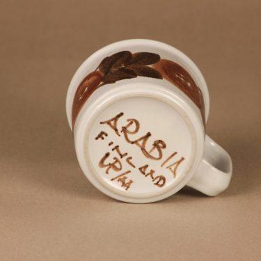 Arabia Rosmarin muki, käsinmaalattu, suunnittelija Ulla Procope, käsinmaalattu, signeerattu kuva 2