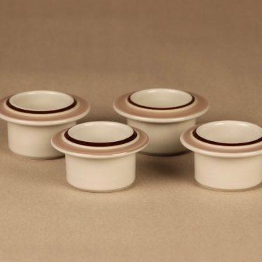 Arabia Koralli egg cup pink, 4 pcs designer Raija Uosikkinen