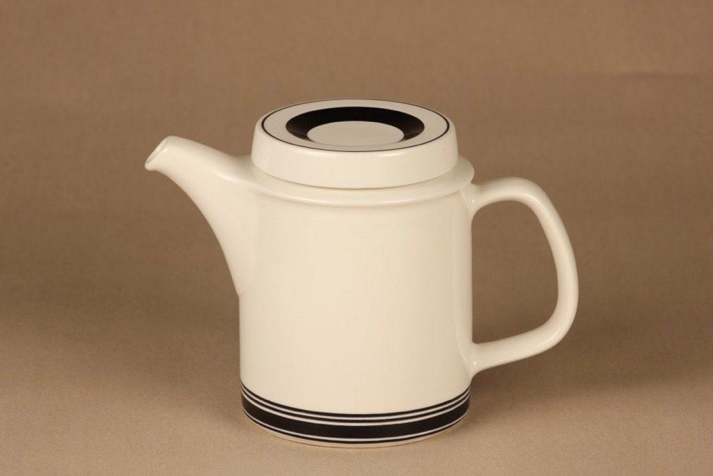 Arabia Faenza raita teekaadin, 1 l, suunnittelija Peter Winquist, 1 l, raitakoriste