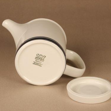Arabia Faenza raita teekaadin, 1 l, suunnittelija Peter Winquist, 1 l, raitakoriste kuva 3