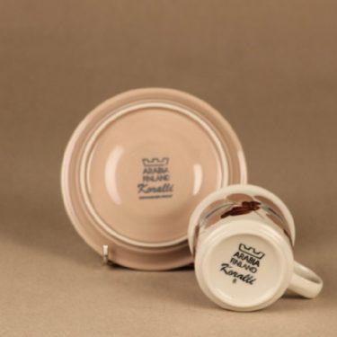 Arabia Koralli kahvikuppi, vaaleanpunainen, suunnittelija Raija Uosikkinen, käsinmaalattu, kukka kuva 3