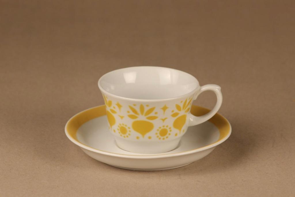 Arabia Retikka kahvikuppi, puhalluskoriste, suunnittelija Hilkka-Liisa Ahola, puhalluskoriste