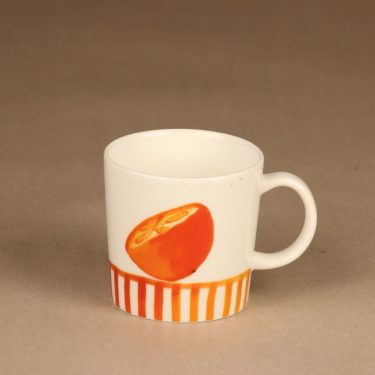 Arabia Orange mug, Seasonal product 2006 designer Minna Immonen