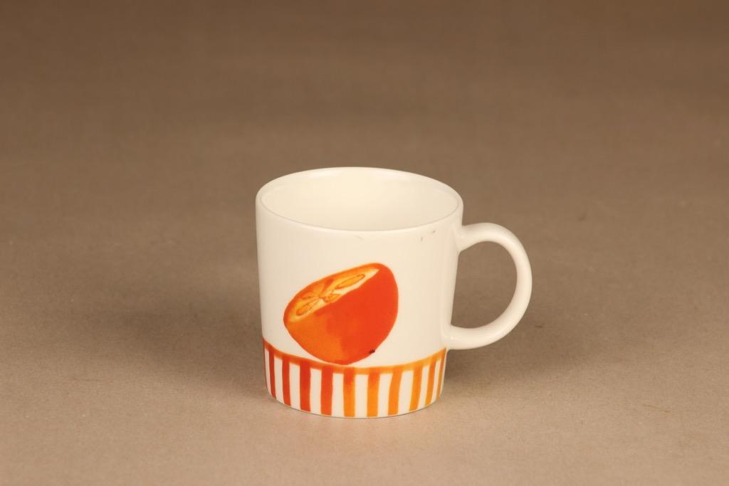Arabia Orange mug, Seasonal product 2006 designer Minna Immonen