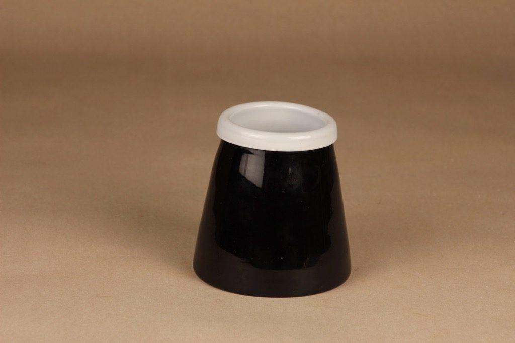 Riihimäen lasi Black and white vase/bowl designer Nanny Still