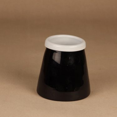 Riihimäen lasi Black and white vase/bowl designer Nanny Still