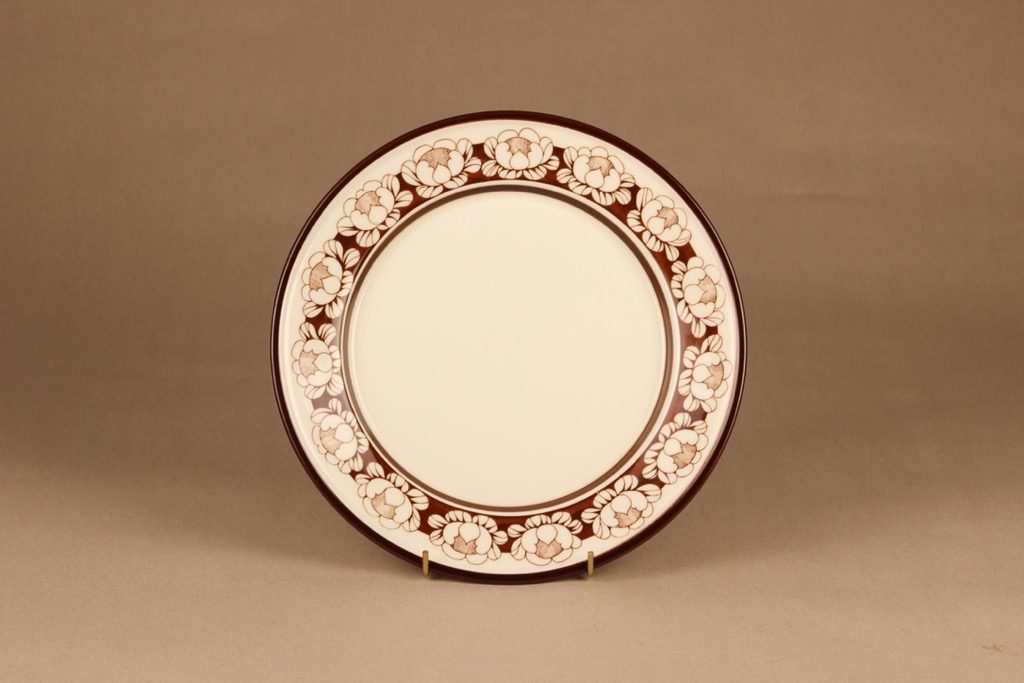 Arabia Katrilli lautanen, matala, suunnittelija Esteri Tomula, matala, kukka, lumme, serikuva