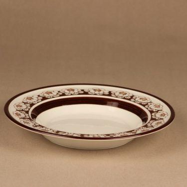 Arabia Katrilli lautanen, syvä, suunnittelija 4 kpl, syvä, kukka, lumme, serikuva kuva 2
