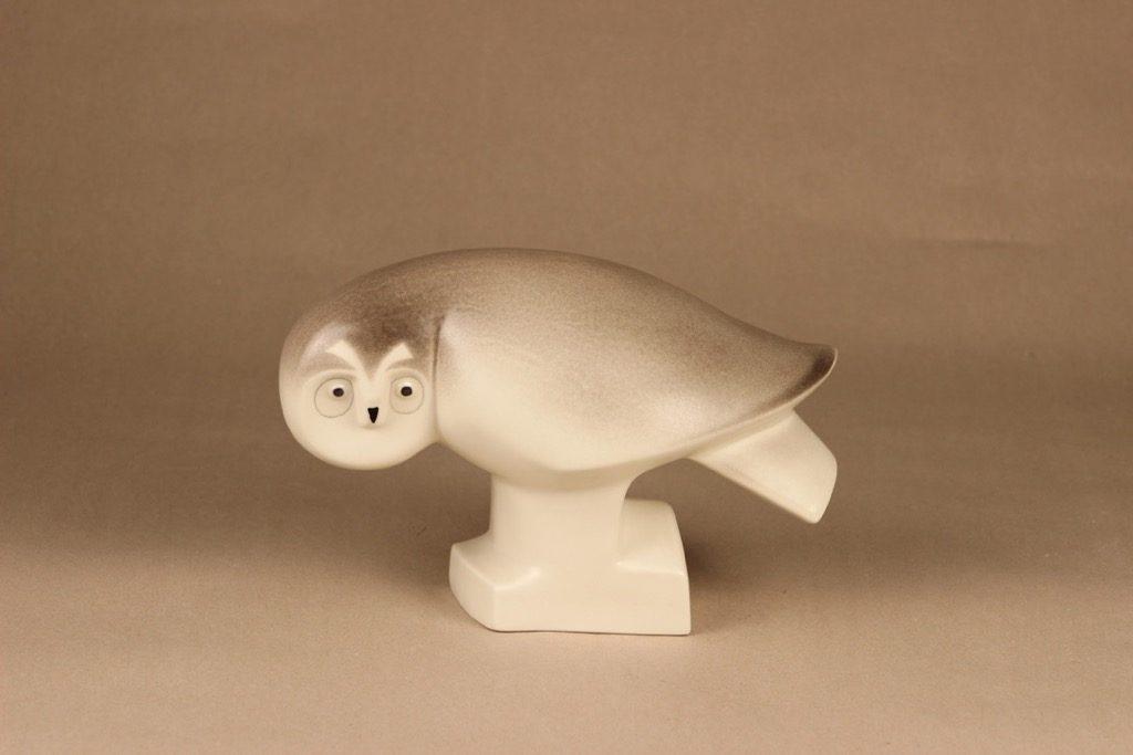 Arabia eläinfiguuri, pöllö, suunnittelija Lillemor Mannerheim-Klingspor, pöllö, WWF, signeerattu