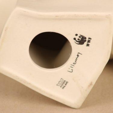Arabia eläinfiguuri, pöllö, suunnittelija Lillemor Mannerheim-Klingspor, pöllö, WWF, signeerattu kuva 4