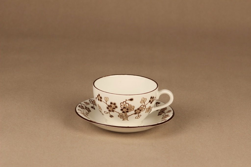 Rörstrand Japonica kahvikuppi, ruskea, suunnittelija Jackie Lynd,