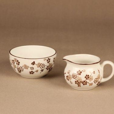 Rörstrand Japonica sugar bowl and creamer designer Jackie Lynd