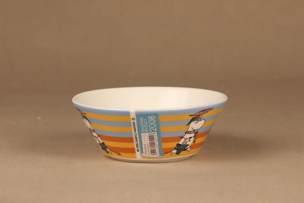 Arabia Moomin bowl Life on the beach 2008 designer Tove Slotte-Elevant