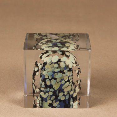 Nuutajärvi art glass annual cube 1992 designer Oiva Toikka