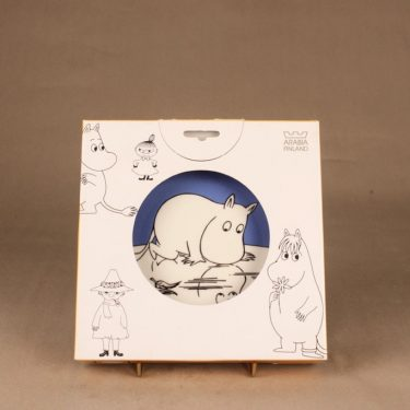 Arabia Moomin plate Moomintroll, two-sided designer  Tove Jansson/Tove Slotte-Elevant