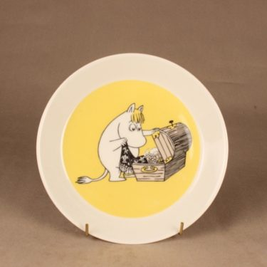 Arabia Moomin plate Snorkmaiden, two-sided designer  Tove Jansson/Tove Slotte-Elevant