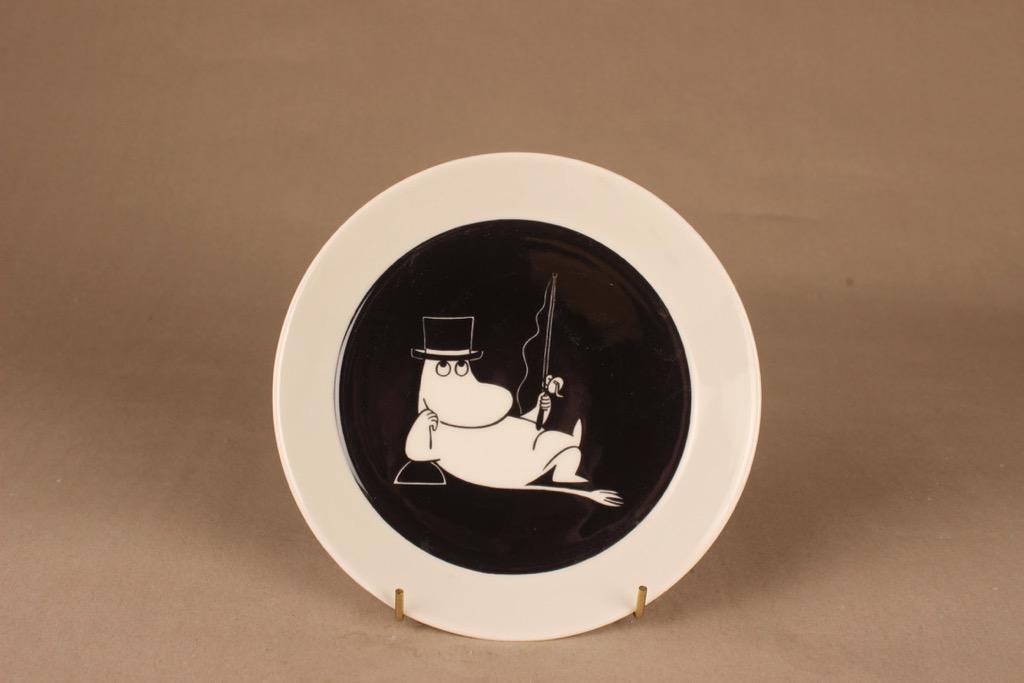 Arabia Moomin plate Moomin pappa, two-sided designer  Tove Jansson/Tove Slotte-Elevant