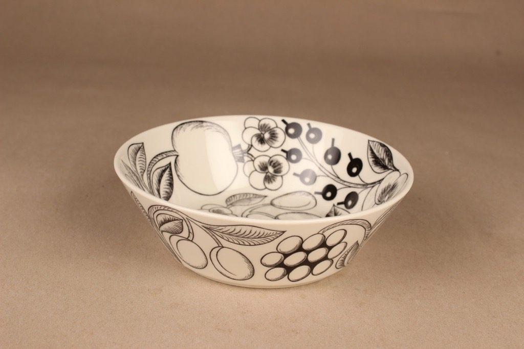 Arabia Paratiisi bowl, black-white designer Birger Kaipiainen