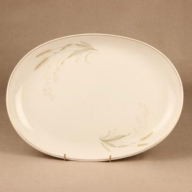 Arabia Tähkä serving plate oval designer Raija Uosikkinen