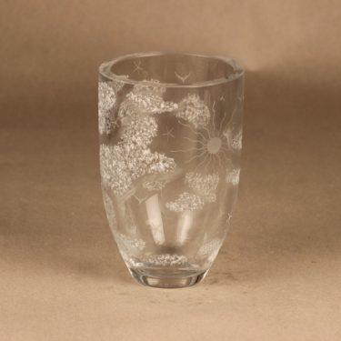 Riihimäen lasi bowl, hammered decorative designer Theodor Käppi