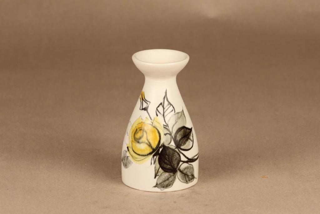 Arabia HL 101/1 maljakko, käsinmaalattu, suunnittelija Hilkka-Liisa Ahola, käsinmaalattu, kukka, signeerattu