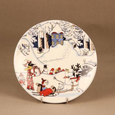 Arabia muumi Joulutervehdys, suuri, suunnittelija Tove Slotte-Elevant, suuri, serikuva, joulu