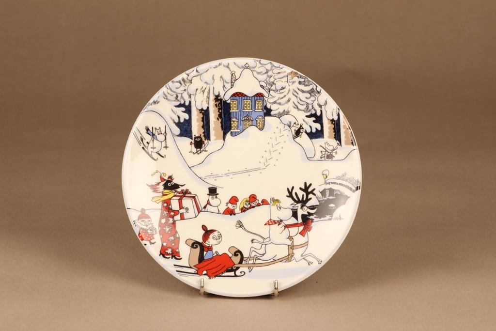 Arabia Moomin wall plate Christmas Greetings designer Tove Slotte-Elevant