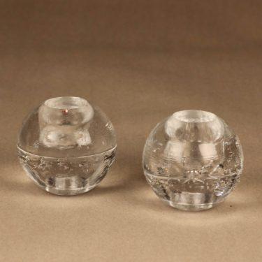 Iittala Arkipelago kynttilänjalka, kirkas, 2 kpl, suunnittelija Timo sarpaneva,