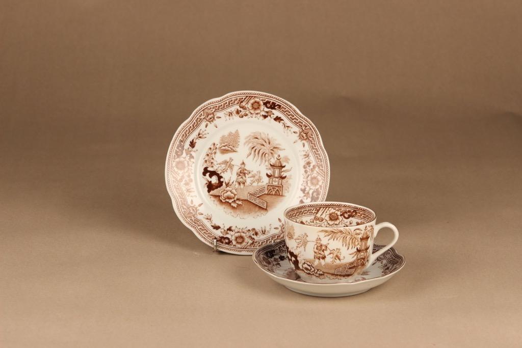 Arabia Singapore tea cup and plates(2)