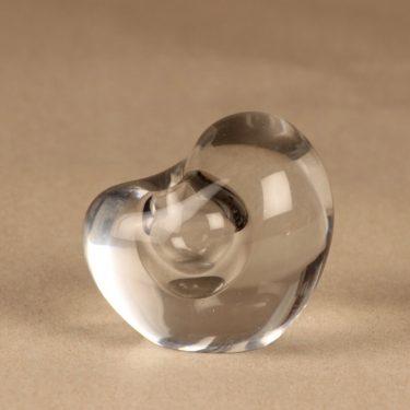 Iittala Sydän (Heart) art glass, signed designer Timo Sarpaneva