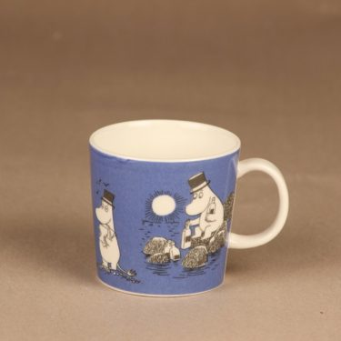 Arabia Moomin mug dark blue designer Tove Jansson/Tove Slotte-Elevant